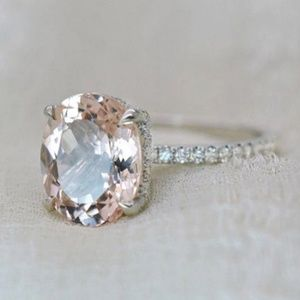 Oval cut citrine solitaire ring